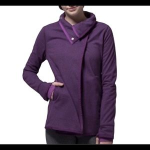 Girls Ivivva Purple Fleece Wrap Jacket